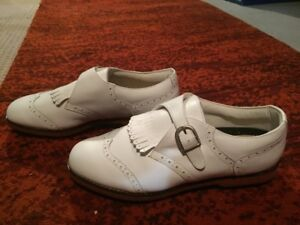 White Lady Fairway Leather Golf Shoes