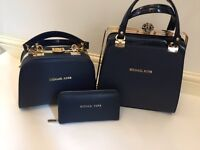 New MK MICHAEL KORS 3pcs Handbag & Purse XMAS GIFT SET! BARGAIN! £100