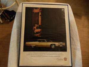 old cadillac classic car framed ads Windsor Region Ontario image 5