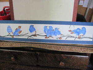 For sale by Artist.  Acrylic painting. Blue Birds