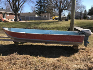 14' Sterling Aluminum boat with 9.5 Evinrude Motor
