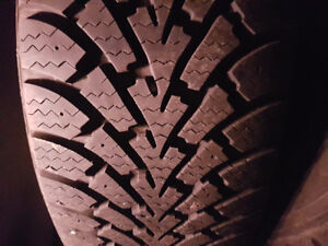 LIKE NEW 225 55 17 GOODYEAR WINTER TIRES