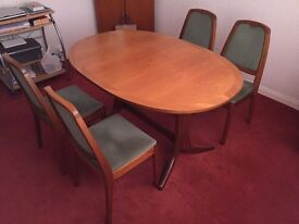 Nathan Teak Table and 4 chairs