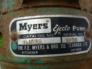MYERS Water Jet Pump with Tank