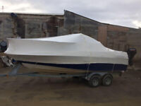 Shrink wrapping boats for winter storage