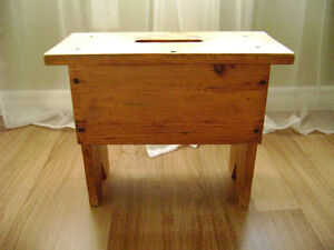 Antique Wooden Footstool / Small Bench / Foot Stool