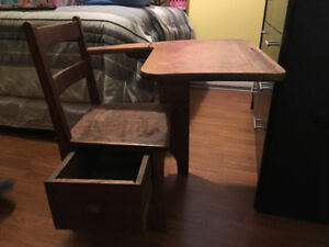 Reduced!!!Antique school desk with drawer