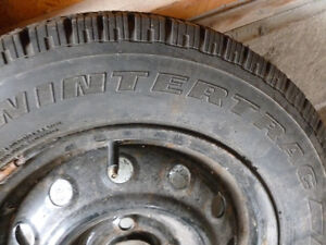 2 VERY GOOD Nordic Wintertrac - 175/70/13 winter tires on rims