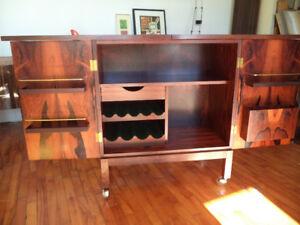 Bar cabinet mid century modern