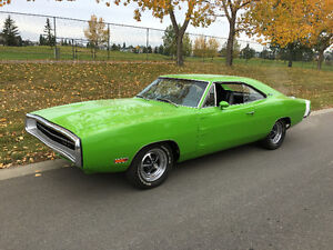 RARE 1970 DODGE CHARGER 500 383 MAGNUM-4SPEED GO GREEN