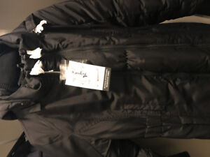 New Thyme maternity down parka with extender panel - XS