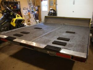 FOR SALE:  Double Snowmobile Galvanized Trailer