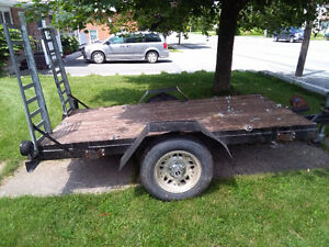 4x8 flat deck trailer with ramps