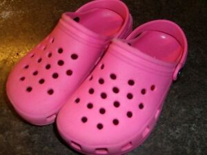 Girl's Crocs - type Shoes Pink size 29 (approx size 12) Kitchener / Waterloo Kitchener Area image 1
