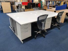 New Grey Desks with Pedestal drawers, huge Glasgow Showroom