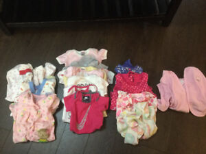 Girls 3-6 month summer clothes lot