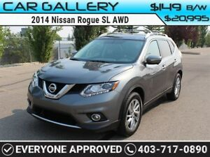 2014 Nissan Rogue SL AWD w/Sunroof, Leather, Navi $149 B/W YOU'R
