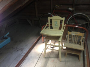 2 baby high chairs-antiques