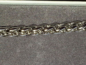 STAINLESS STEEL CHAIN NECKLACE 20 INCHES LONG, 6MM WIDE