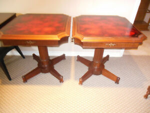 PAIR OF GAMES TABLES