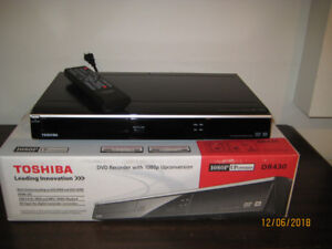 Toshiba DR430 DVD Recorder with 1080P Upconversion