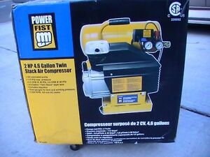 2 HP 4.6 Gal Twin Stack Air Compressor Brand New in Box