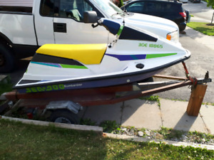 Selling home made jet ski trailer or trade