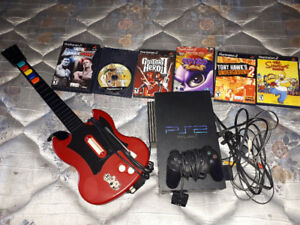 PS2 with games, controller and all hookups.