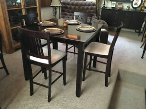 High Top Solid Wood Dining Table