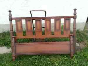 Sturdy all wood full/double bed