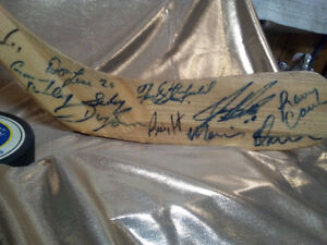 hockey stick autographed by buffalo sabres alumni
