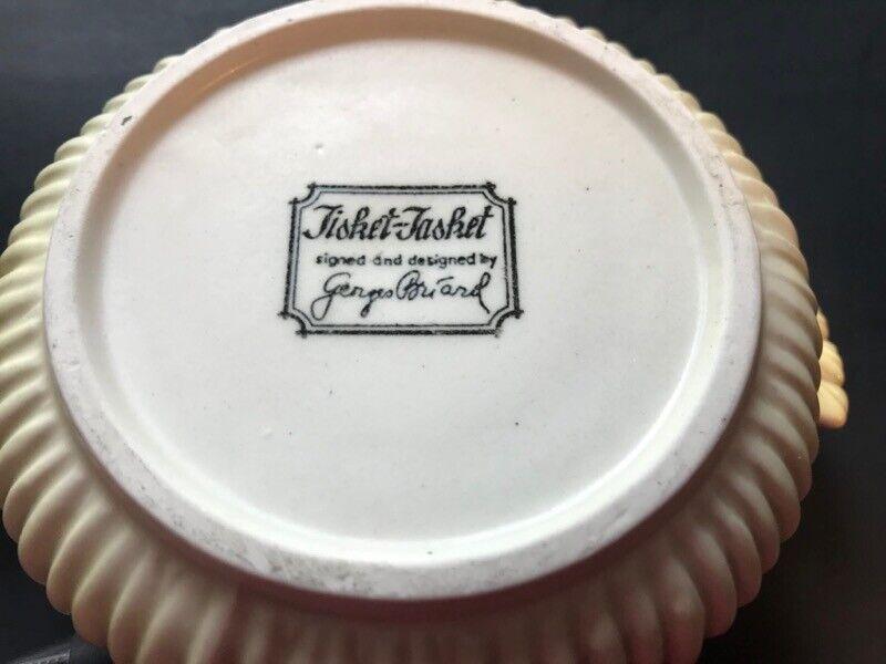 Georges Briard Bowl Tisket Tasket Stoneware Berry Bowl W Handles - $10.00