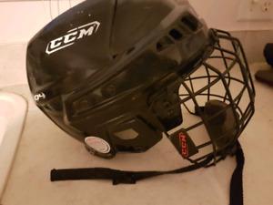 Hockey helmet with face guard