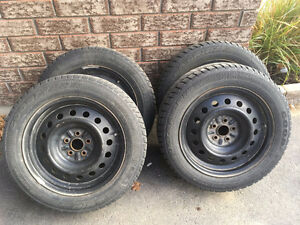 205-55-16 Winter tires on rims