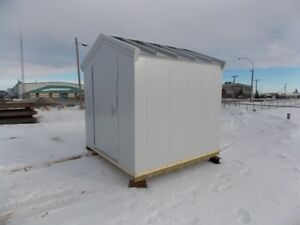 All metal custom manufactured storage shed