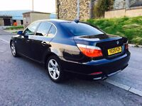 2009 BMW 520 D Business Edition Black 177 BHP White Leather SAT Nav Swap P.x welcome