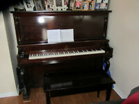 Willis Upright Piano with bench