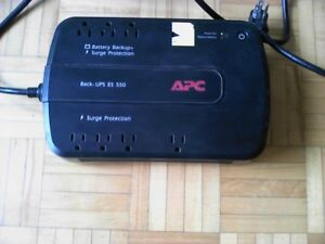 APC 8 outlets with Battery backups ES-550 and surge protection