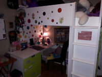 Bunk bed with Desk $150
