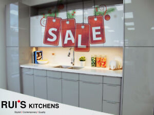 Modern Design Acrylic High Glossy Kitchen Cabinets White/Grey