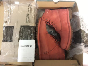 Timberland Boots - Rare Colour - Coral Pink - 7.5