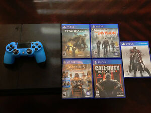 PS4 w/ 5 games and Scuf Controller.