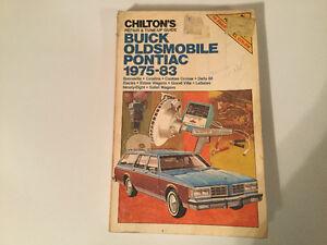 1975-83Buick Olds Pontiac Shop Manual LeSabre Electra Catalina