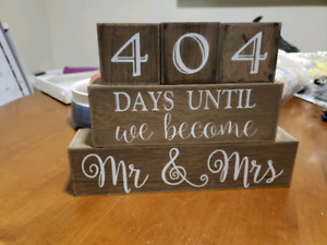 Mr & Mrs Countdown Blocks