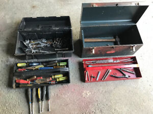 Various tools and tool boxes
