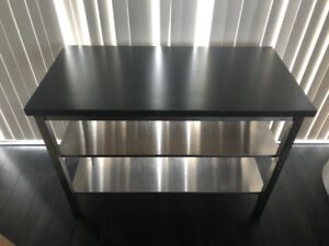 Stainless Ikea Island Table For Prep, Butcher Block or Kitchen