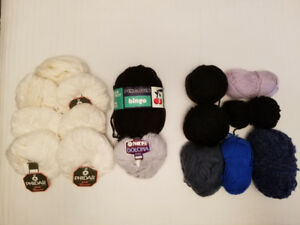 Lot de laine de tricotage / Lot of knitting yarn