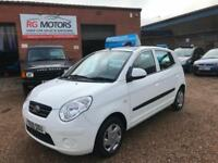 2009 Kia Picanto 1.0 ( 60bhp ) White, 5dr Hatch, **ANY PX WELCOME**
