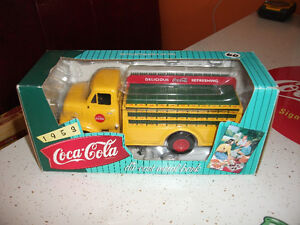 1953 mint coke coca cola delivery bottling  truck camion bank