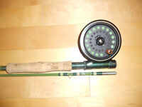 Fishing gear, equipment, etc, rods, reels, boxes, flies, and mor